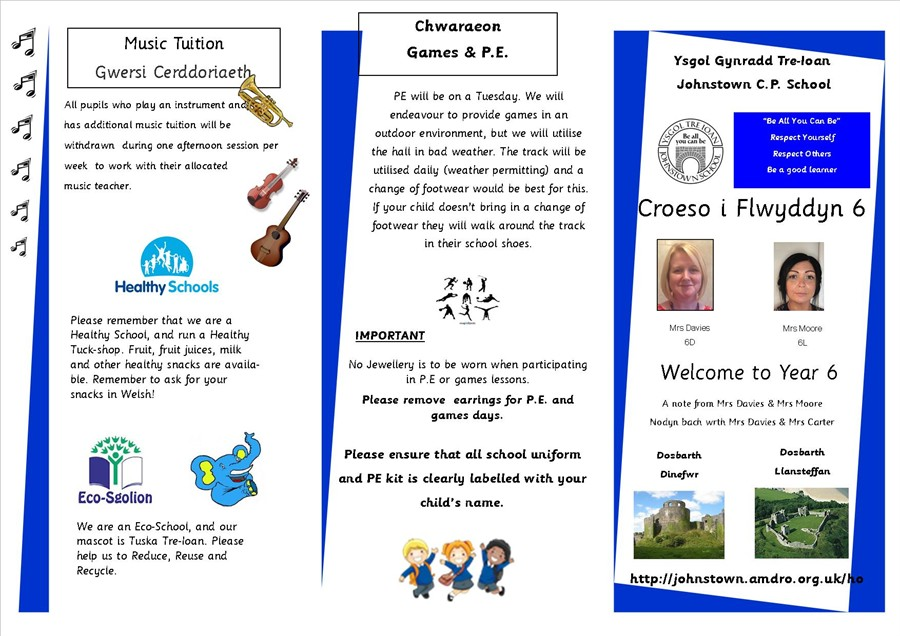 Y6 Welcome Leaflet 1